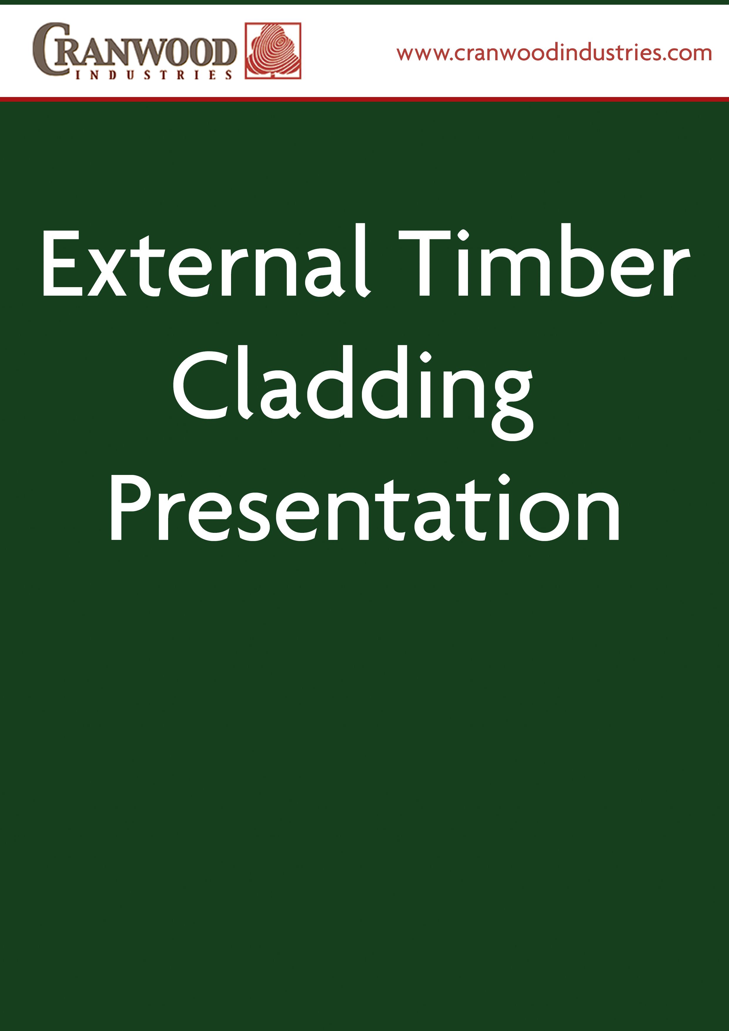 External Timber Cladding Presentation